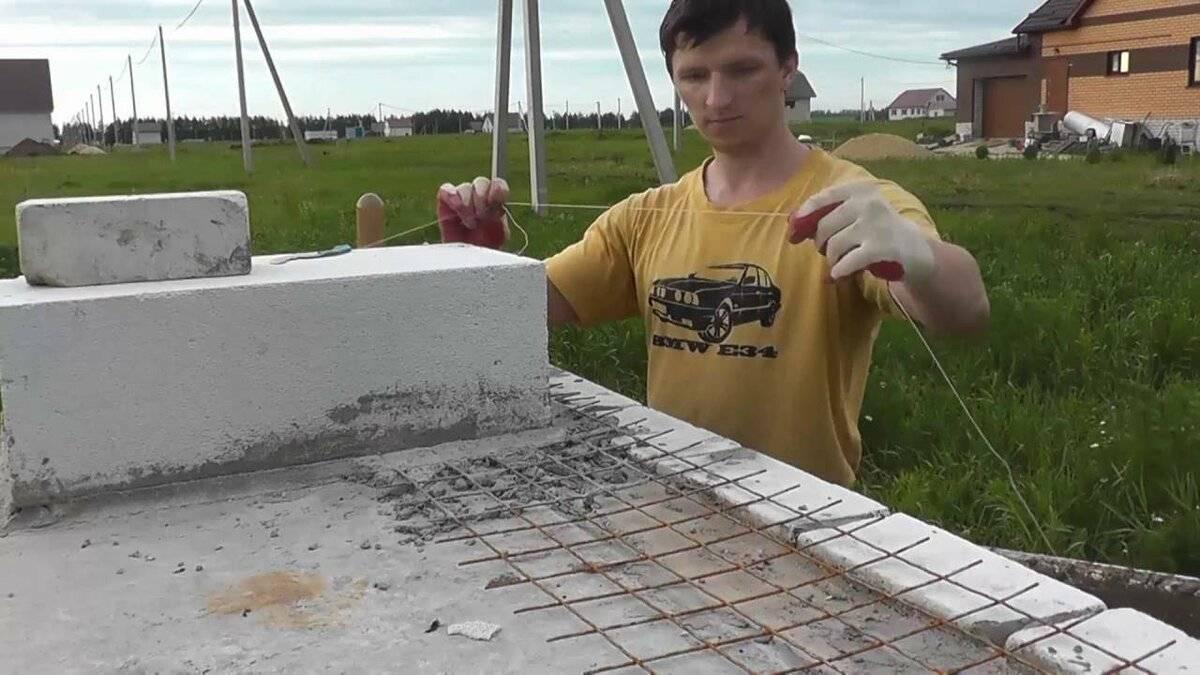Как построить перегородку из пеноблоков