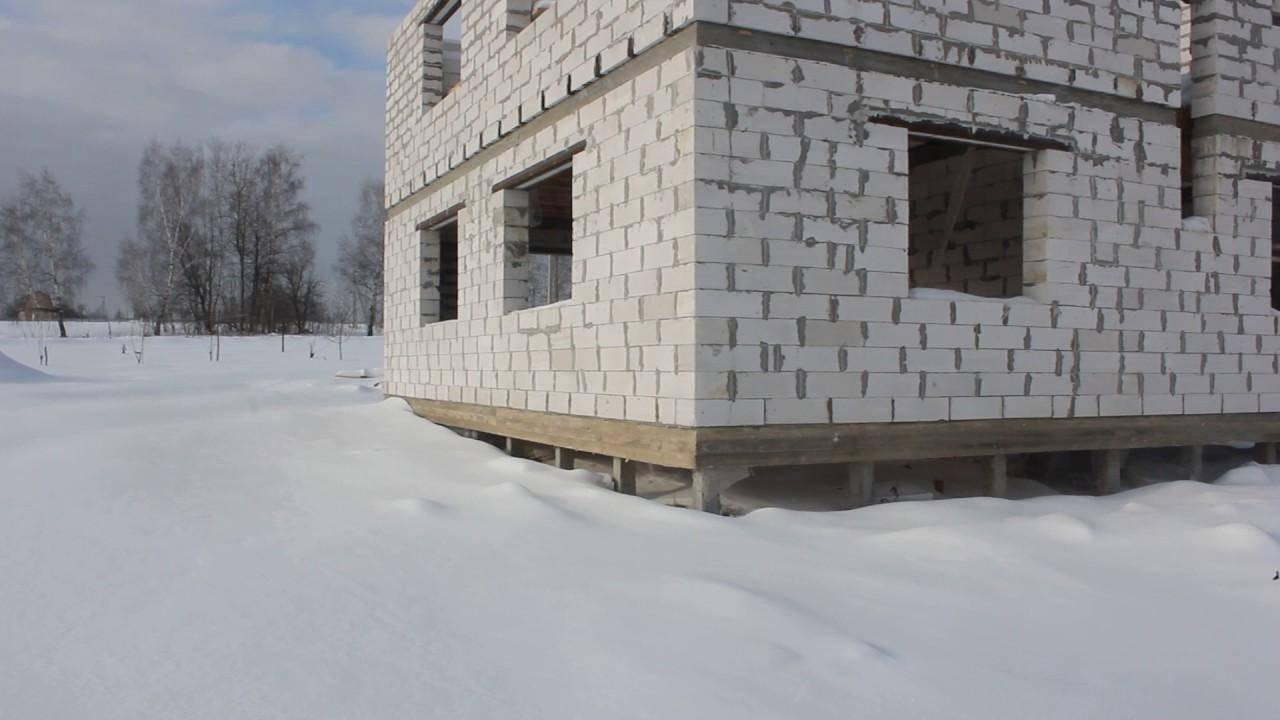Свайный фундамент для дома из газобетона (на винтовых сваях)