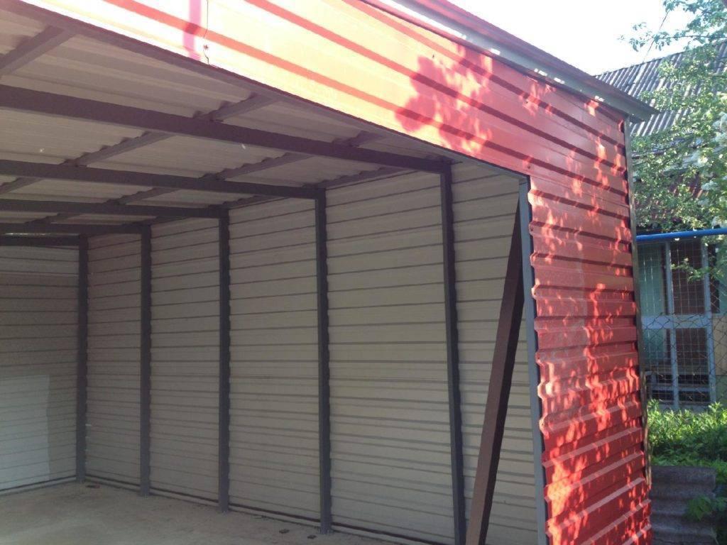 Гараж из профлиста своими руками (70 фото): конструкции из металлопрофиля с крышей из профнастила, как сделать дешево из оцинкованного профиля