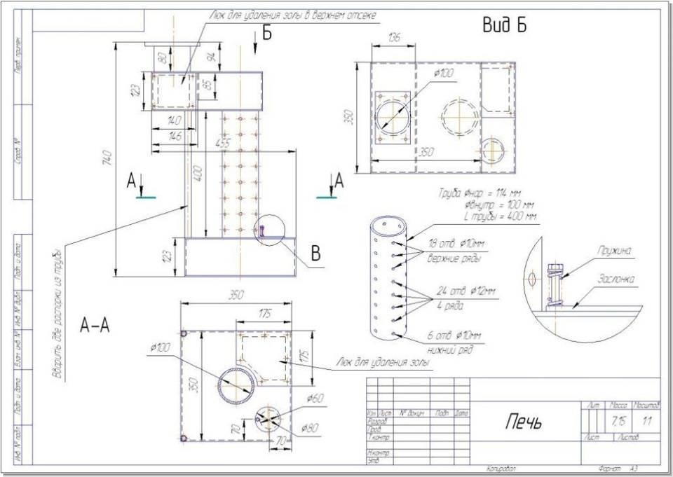Печь на отработанном масле своими руками: конструкция и принцип работы