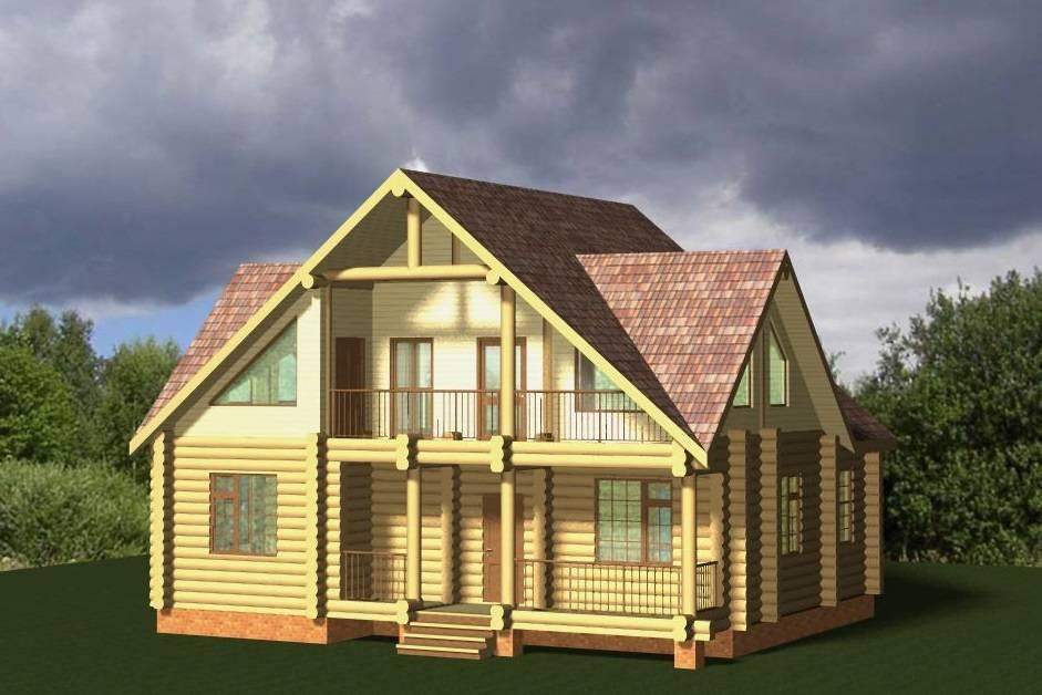 Деревянные дома из бревна – самые красивые одноэтажные, двухэтажные и дома с мансардой