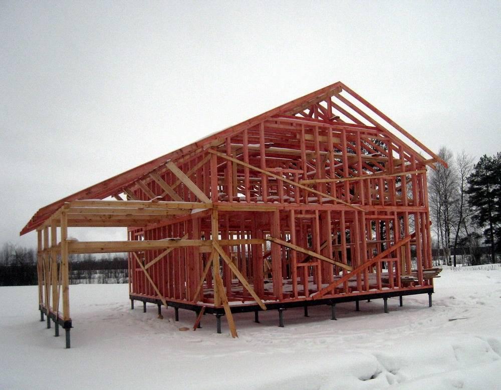 Каркасные дома: можно ли строить зимой и другие вопросы