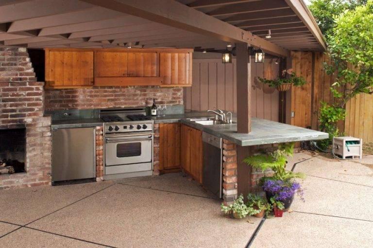 Простая летняя кухня своими руками, фото и чертежи