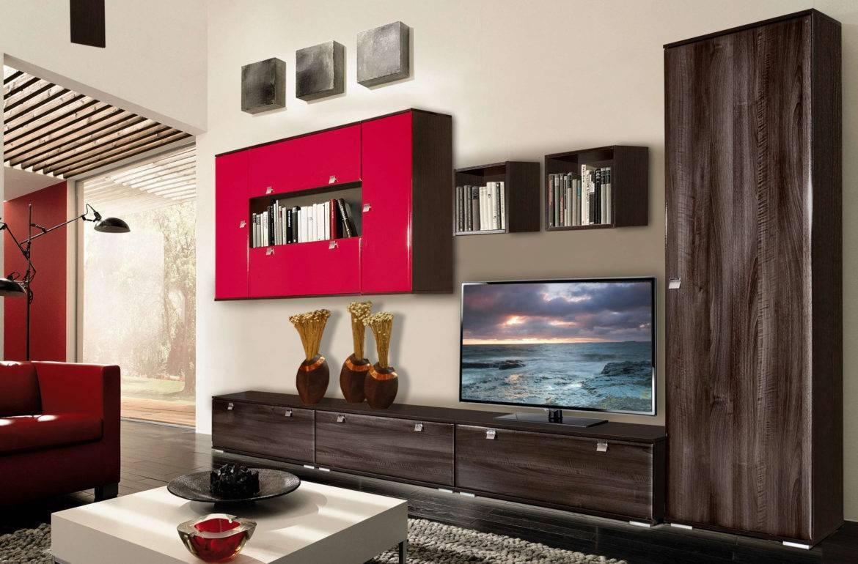 70 современных стенок-горок в гостиную: новинки с фото