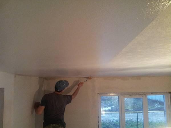 Паутинка для потолка под покраску: цена поклейки, ремонт и стекловолокно под шпаклевку