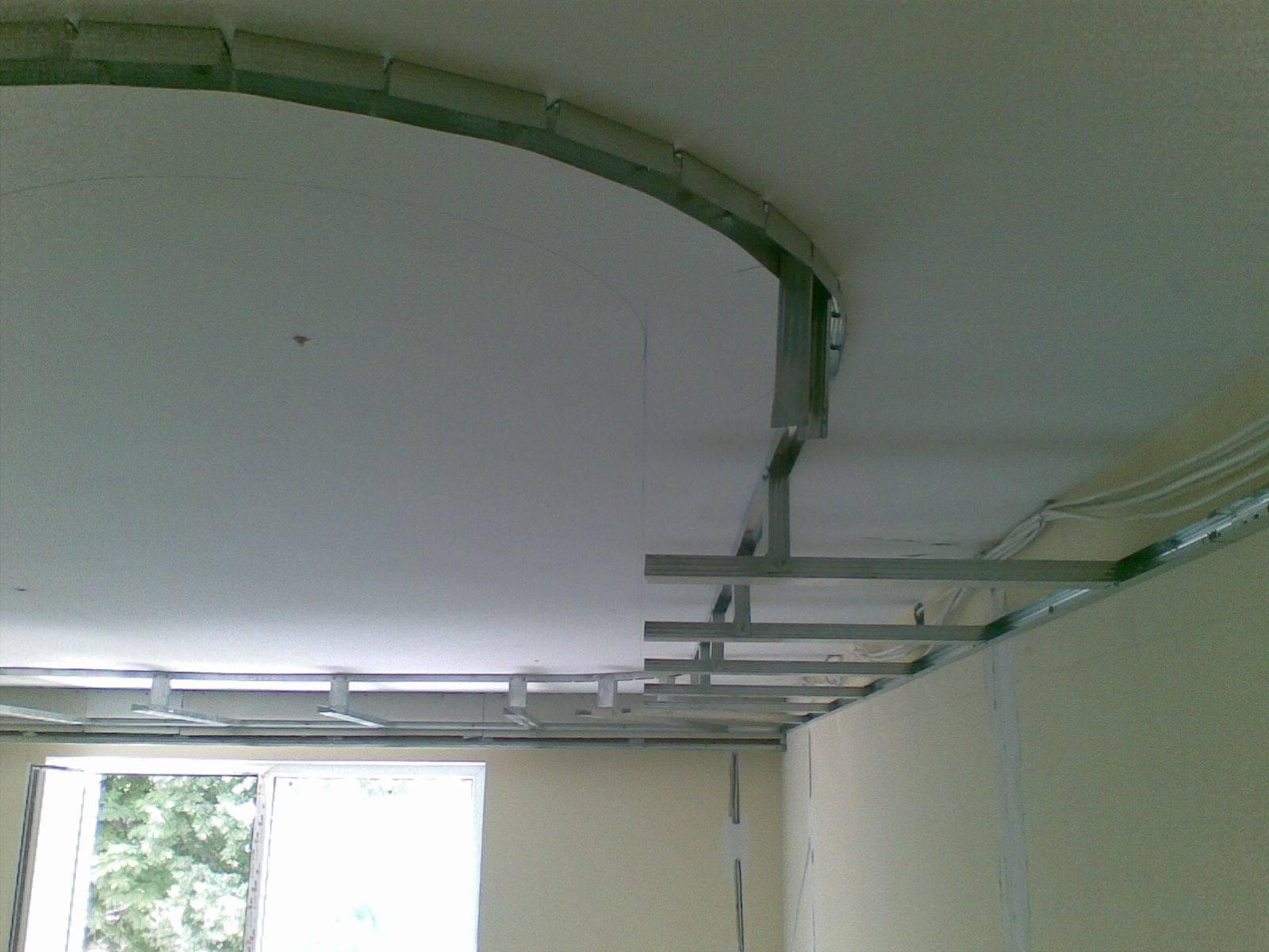 Как сделать гипсокартонный потолок своими руками с помощью видео инструкции и фото