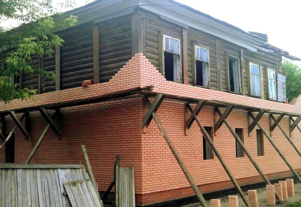 Обкладка деревянного дома кирпичом - всё о кирпиче