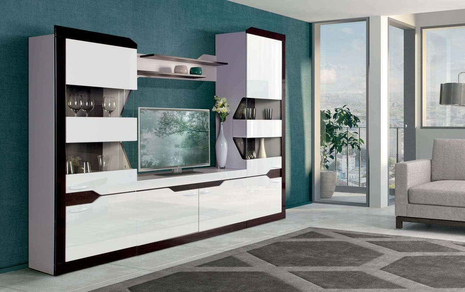 Необычные стенки-горки в гостиную: современные и модные решения