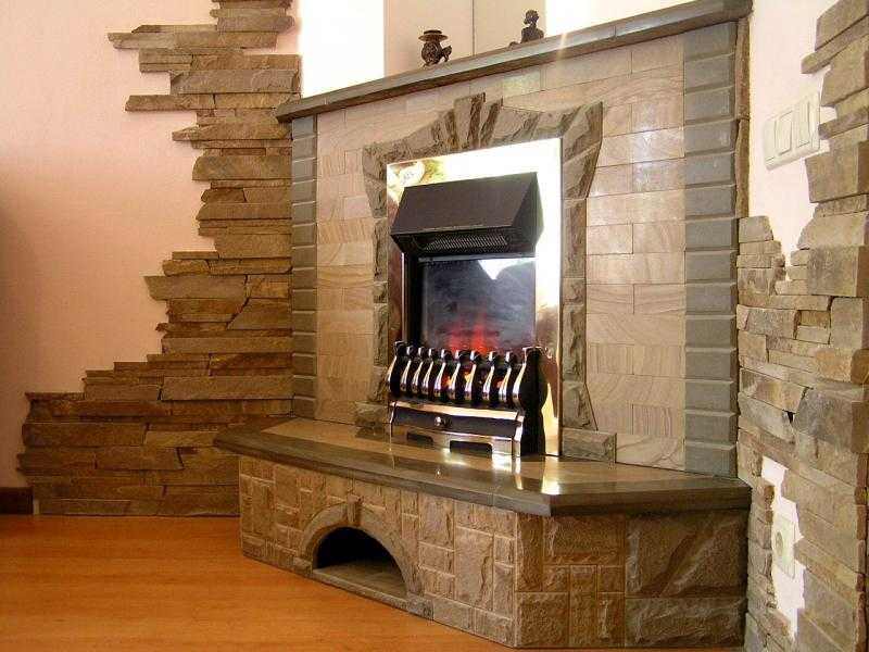 Отделка камина декоративным камнем. как отделать камин: штукатурка, облицовка плиткой, камнем декоративный камень для внутренней отделки около камина