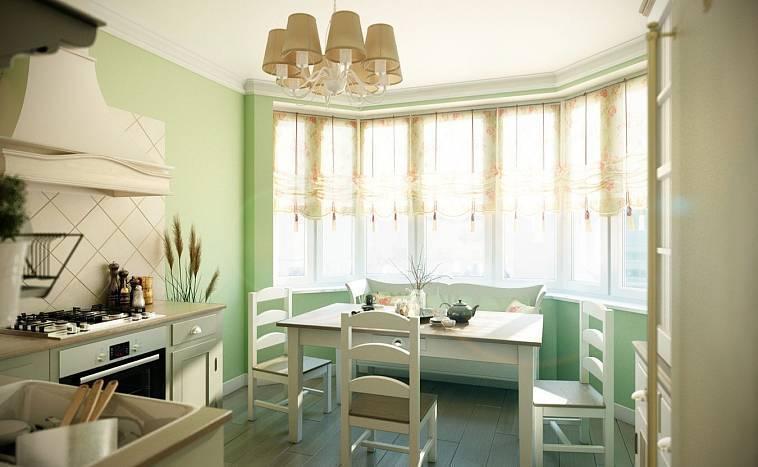 Дизайн кухни с эркером - 35 фото примеров и идеи интерьера