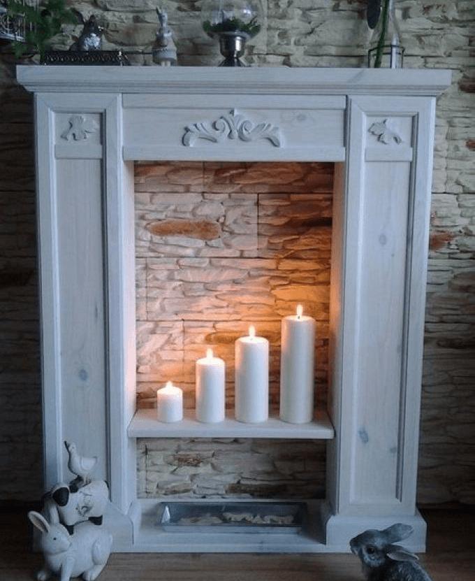 Декоративный камин из гипсокартона своими руками: портал фальш-камина, как сделать, пошаговая инструкция, фото