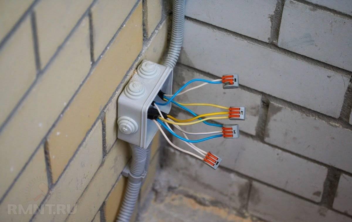Соединение проводов в распределительной коробке: популярные способы