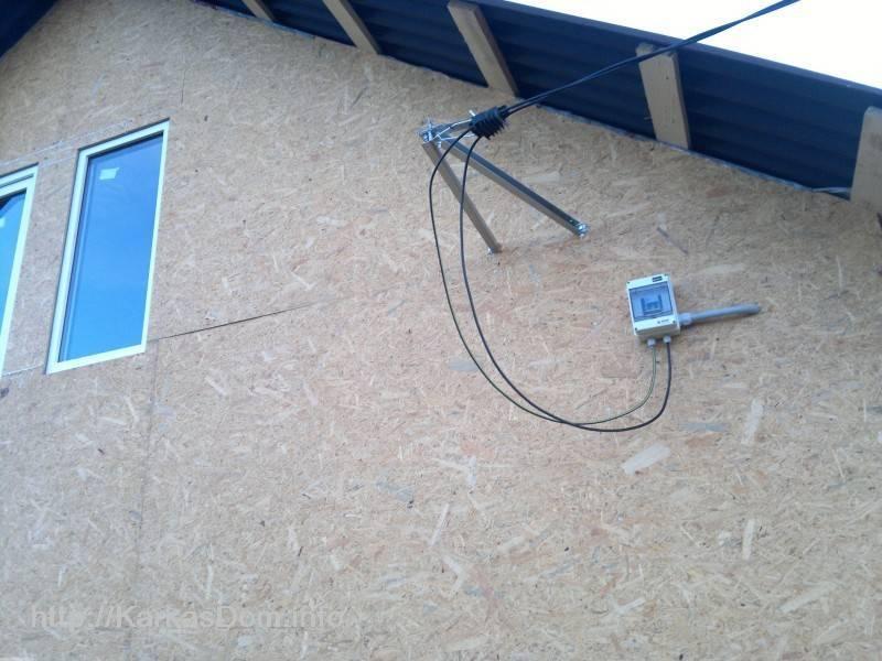 Замена провода от столба к дому: за чей счет и как выполнить