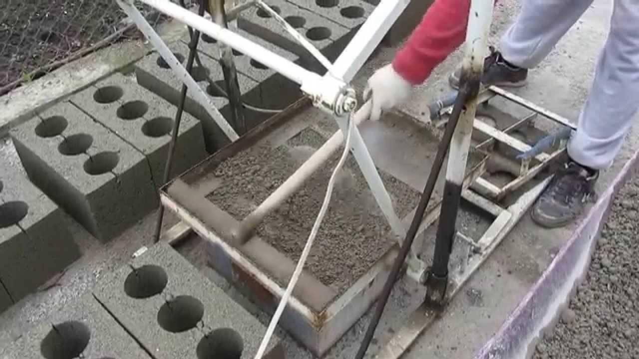 Изготовление шлакоблоков своими руками