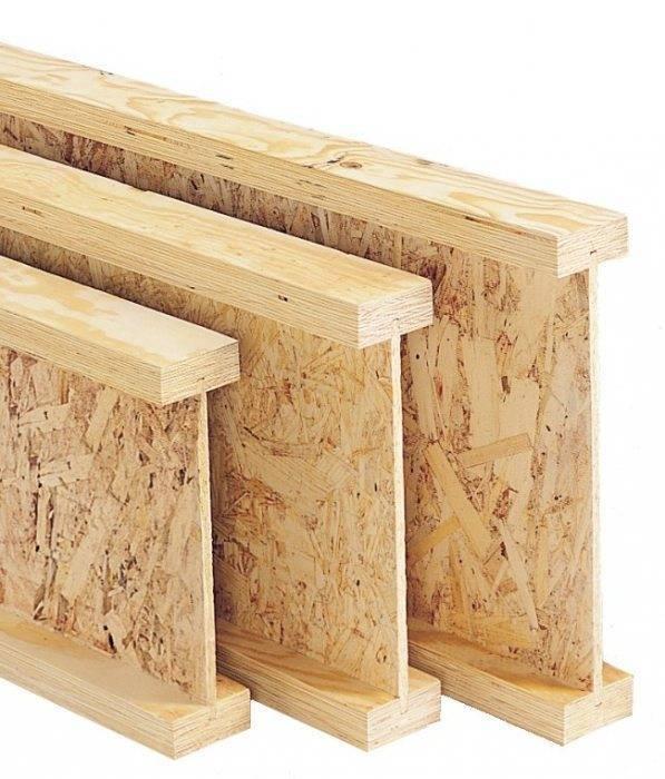 Деревянные балки перекрытия двутавровые: способы их устройства