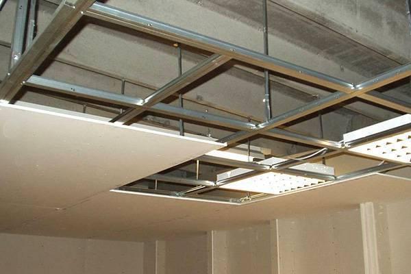 Гипсокартон потолочный: цена, устройство подвесного в хрущевке, ремонт и монтаж