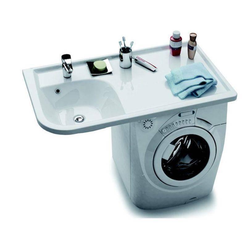 Размещаем стиральную машину под раковину: преимущества и особенонсти