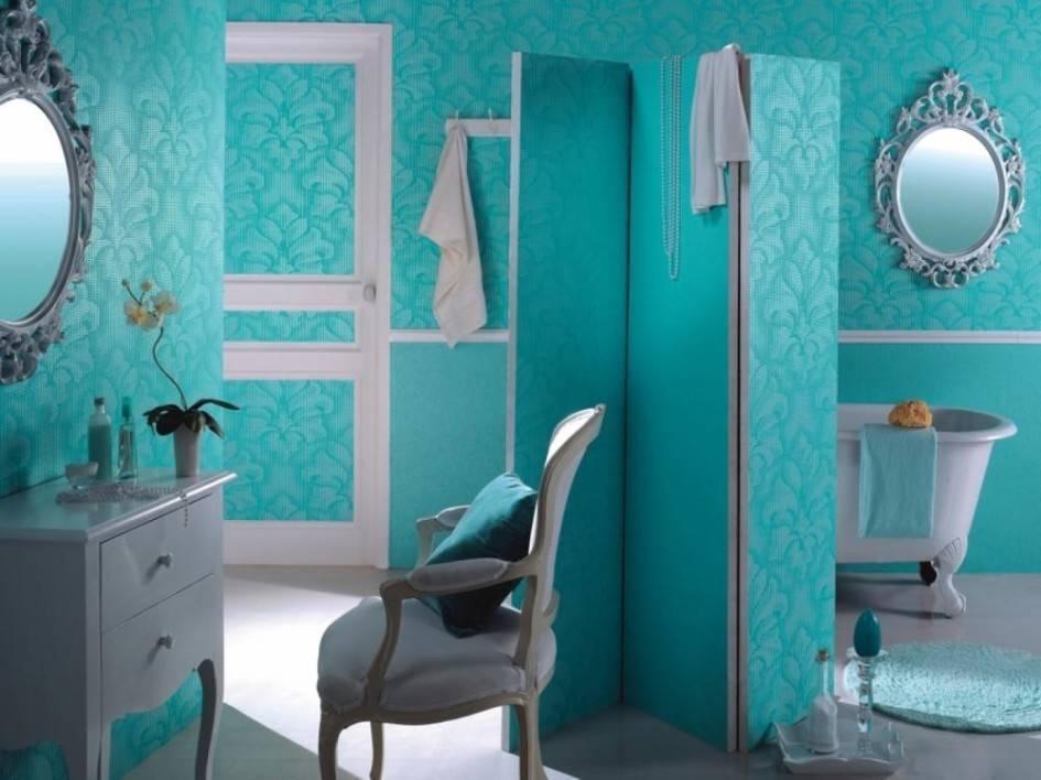 Обои для ванной: как выбрать и наклеить на стены   ремонт и дизайн ванной комнаты