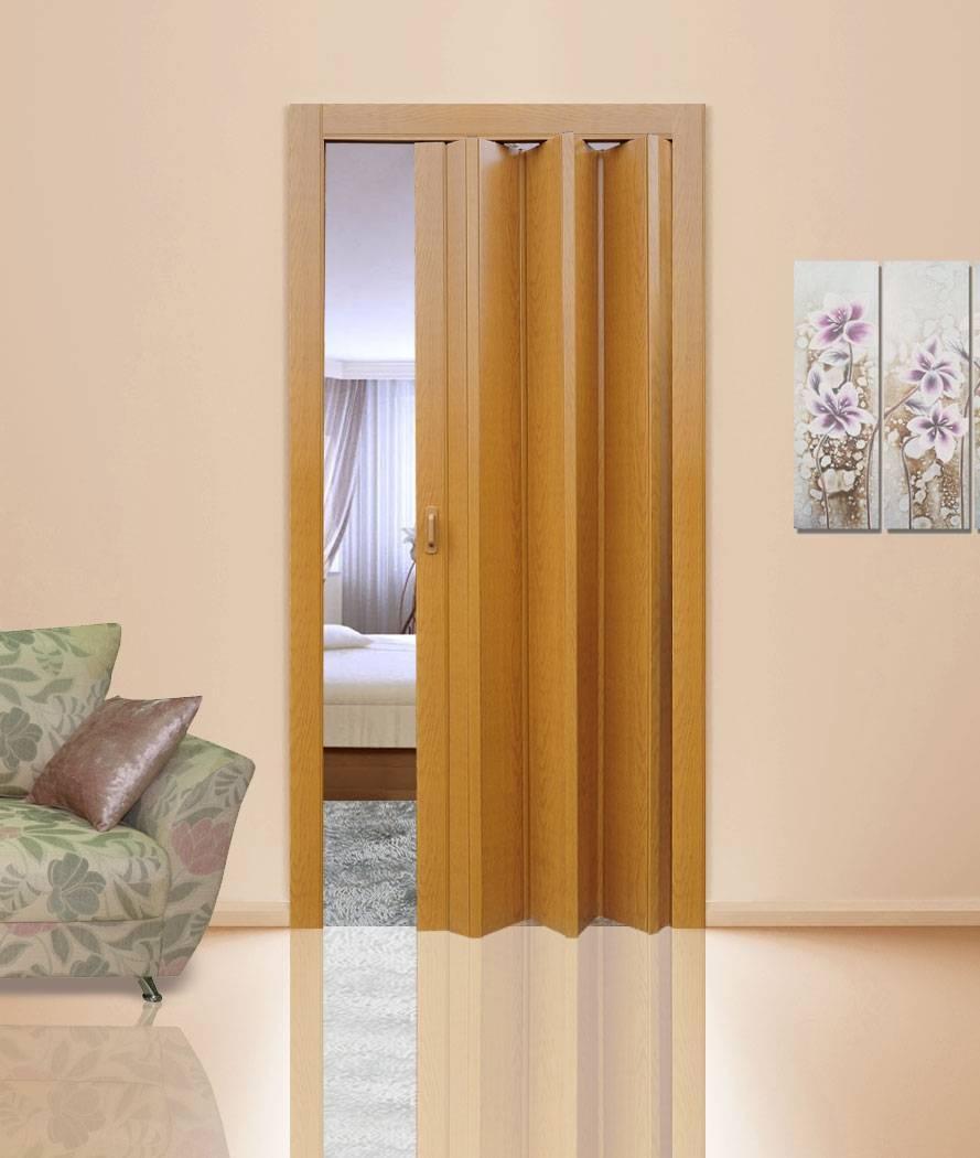 Межкомнатные двери-гармошка и двери-книжка: размеры, установка
