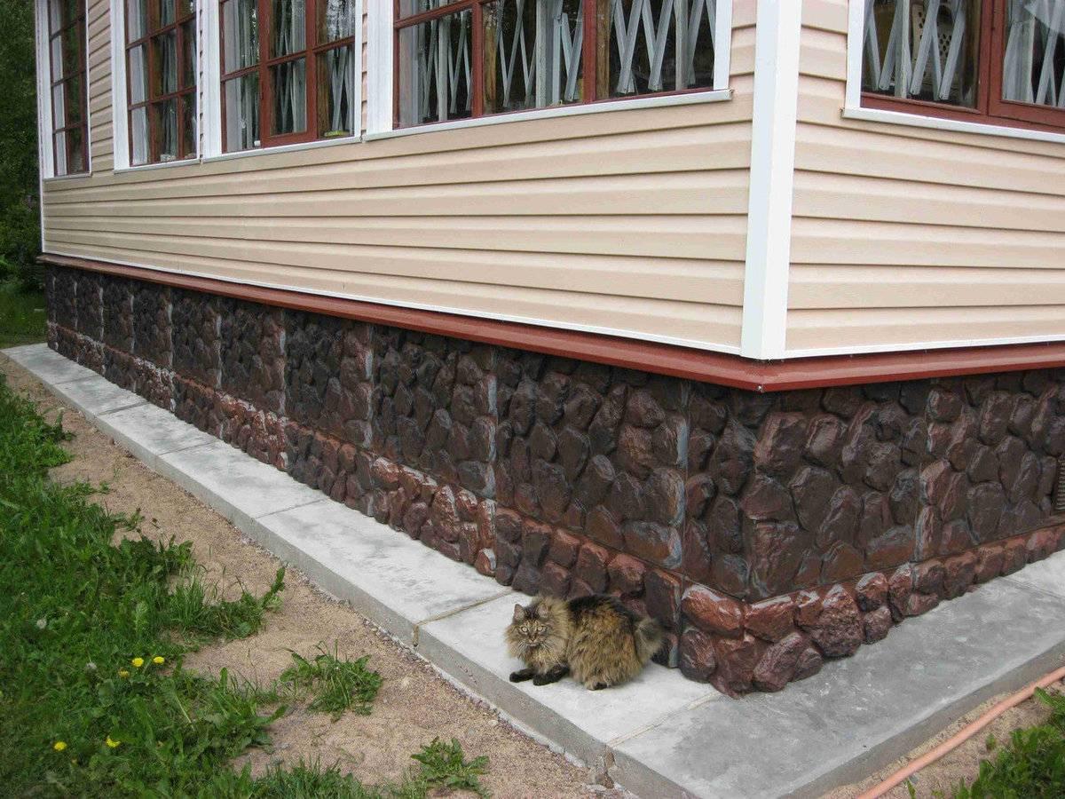Облицовка фундамента дома: какой материал лучше и фото