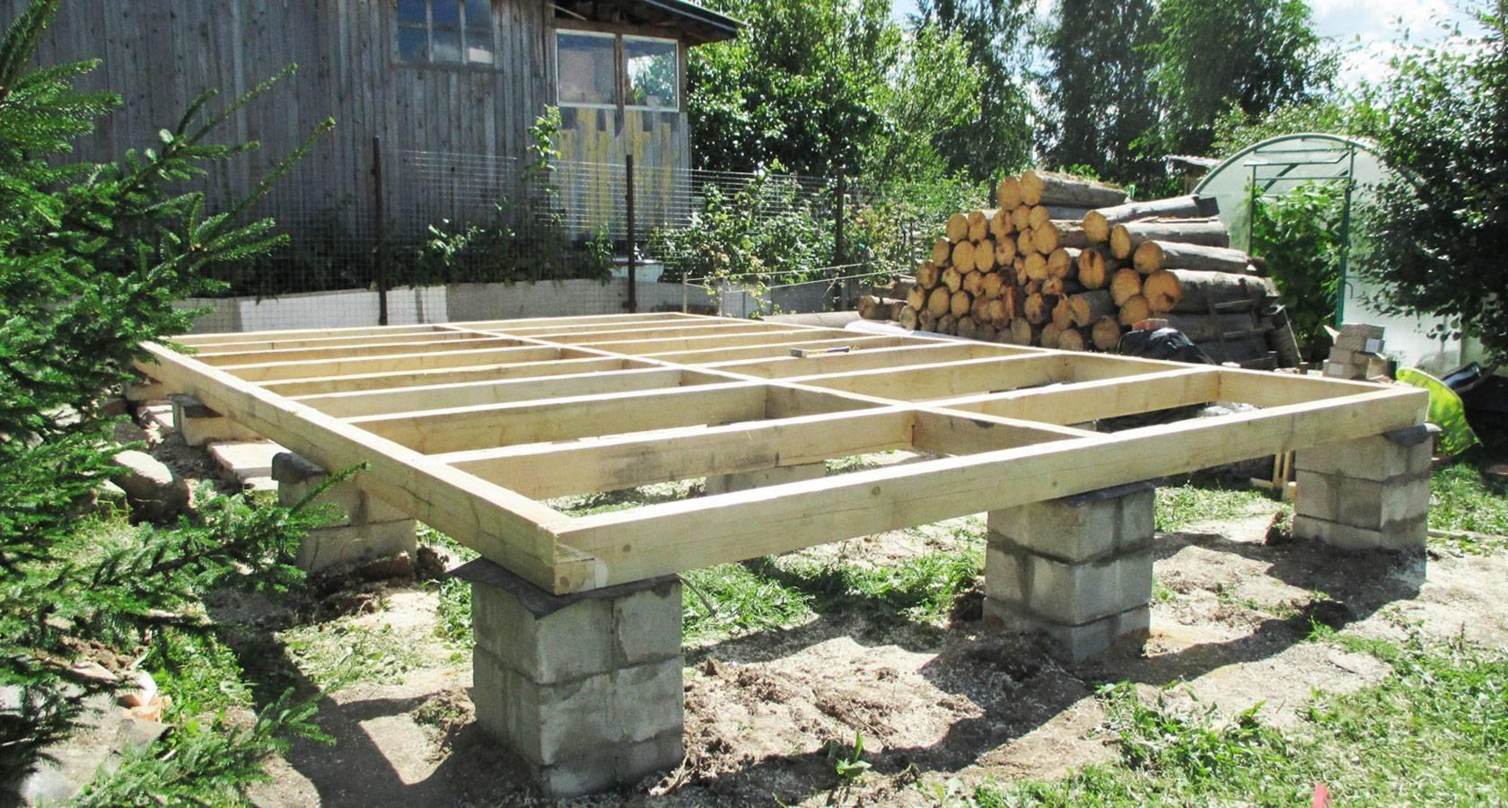 Монтаж столбчатого фундамента для гаража и преимущества