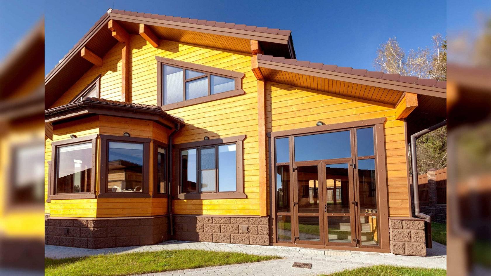 Дома из клееного бруса – этапы строительства, покраска и варианты интерьера