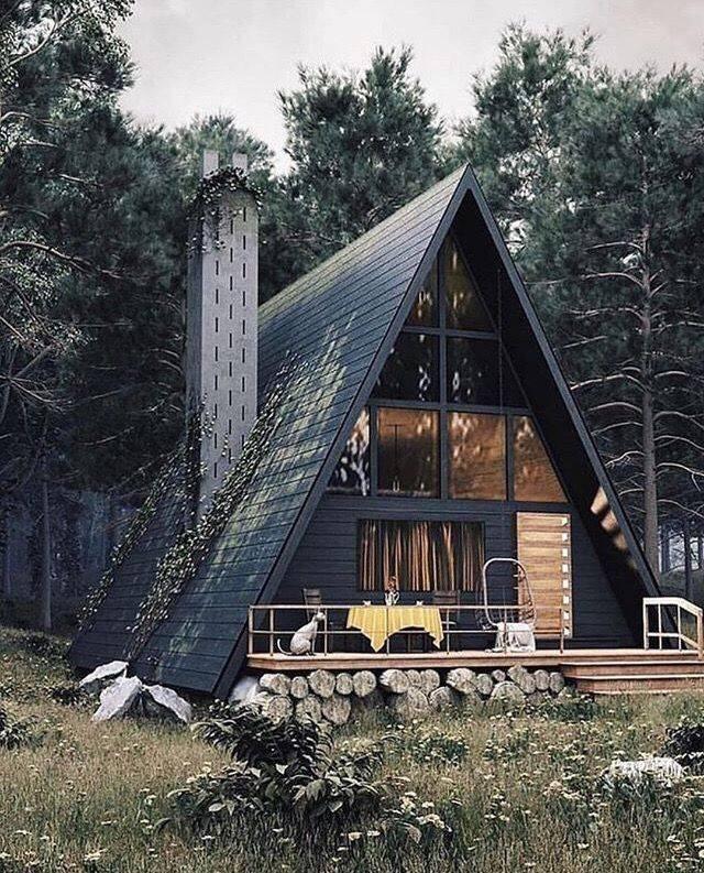 А образный дом шалаш для постоянного проживания