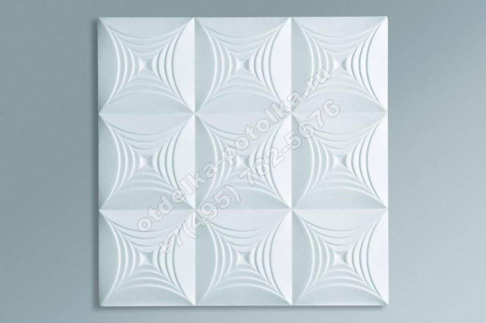 Размеры потолочной плитки: методы ее наклейки и разметки потолка