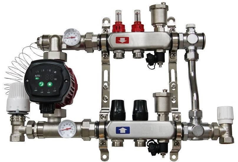 Коллектор для водяного теплого пола: схема работы, типы и зачем нужен