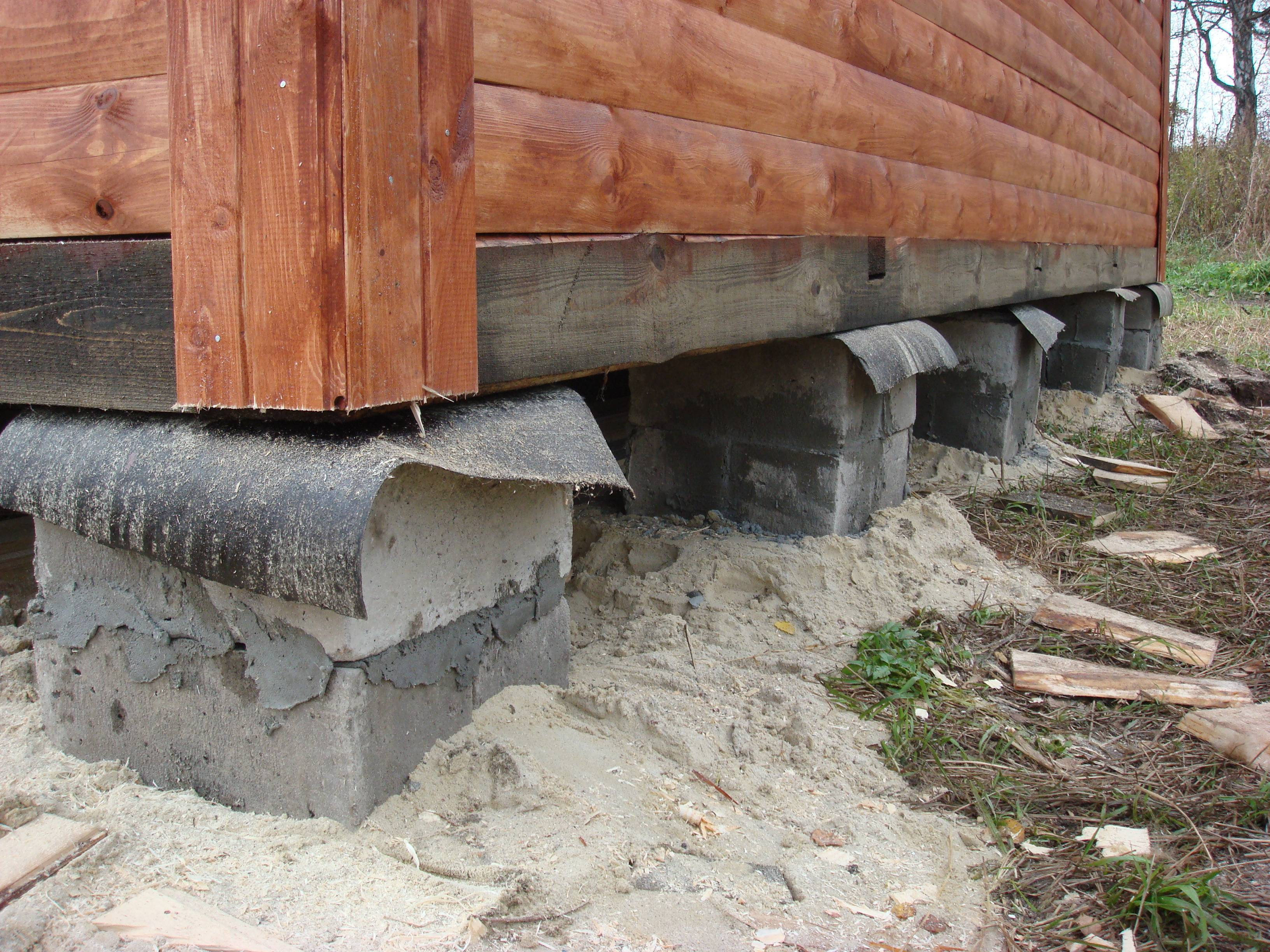 Блочный фундамент своими руками для каркасного дома, его преимущество и недостатки (видео и фото)