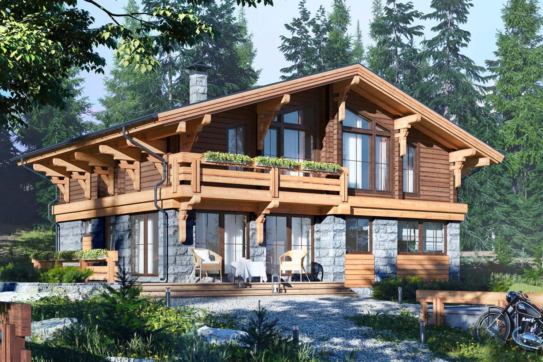 Строительство деревянных домов шале в москве, цена от 835 000 руб.