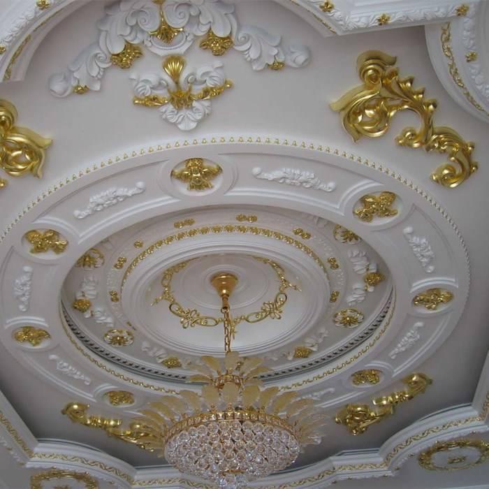 Как сделать потолок с лепниной? (14 фото)