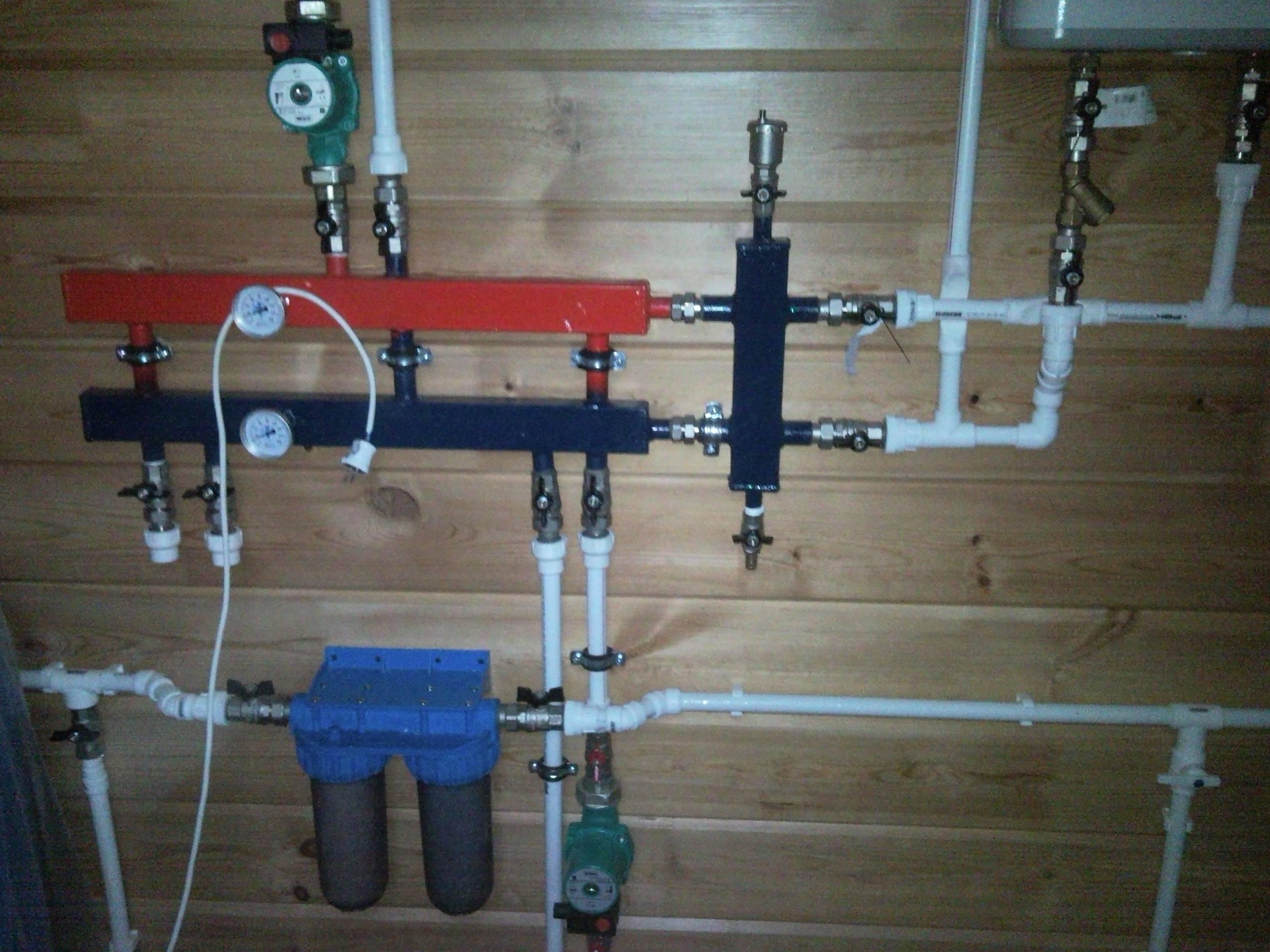 Разделитель гидравлический: описание, назначение   отопление дома и квартиры