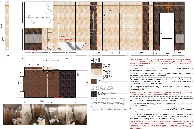 Какие бывают размеры настенной плитки?