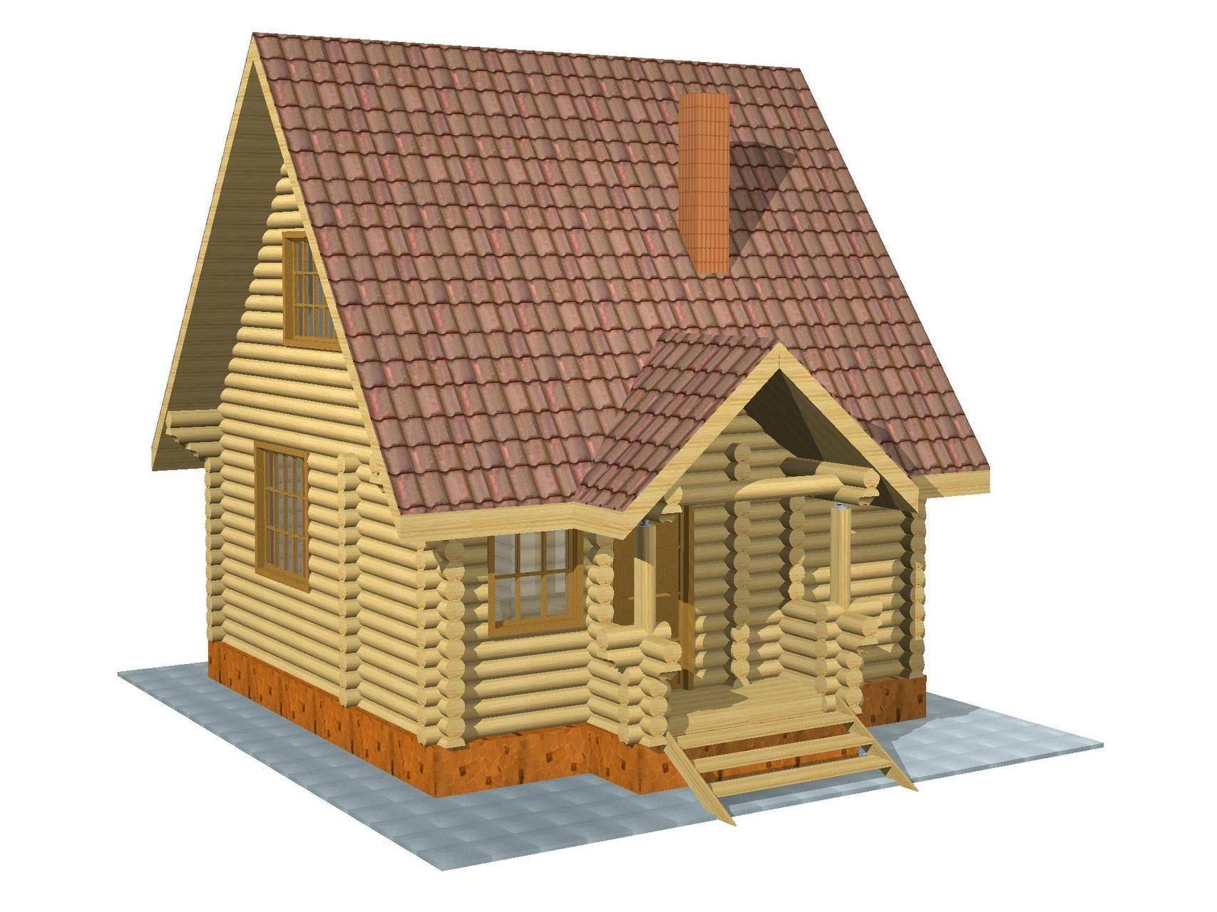 Бревенчатый дом с мансардой. дома из бревна с мансардой: виды и преимущества