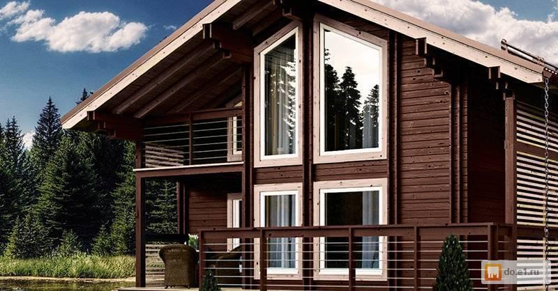 Строительство дома из двойного бруса по финской технологии