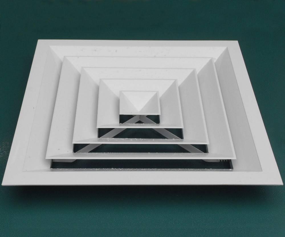 Виды вентиляционных диффузоров и монтаж элемента вентиляции