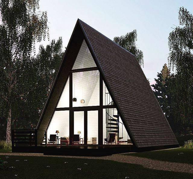 Дом-шалаш: альтернативный дизайн жилья для загородного строительства