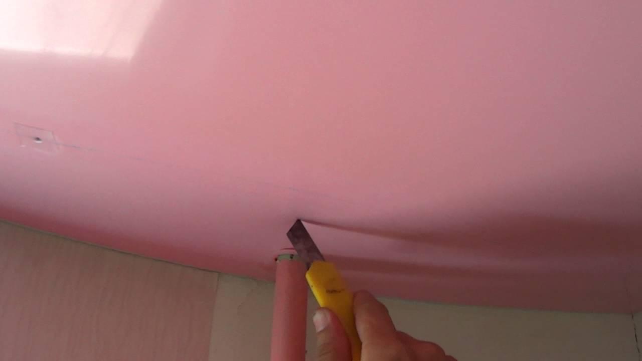 Как снять натяжной потолок своими руками: полезная инструкция