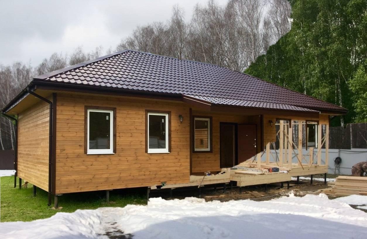 Можно ли построить каркасный дом в зимнее время?