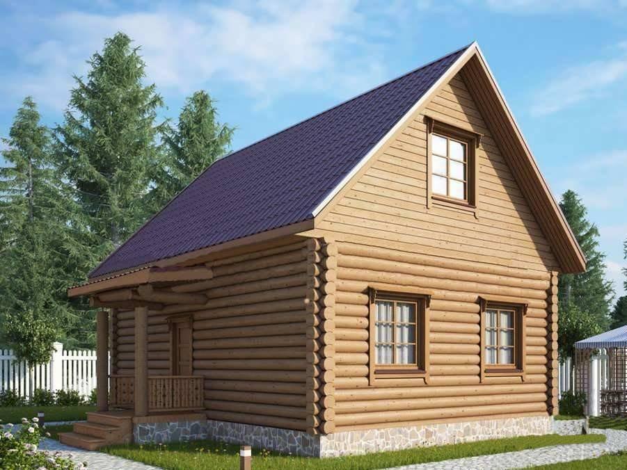 Дома из бревна с мансардой: виды и преимущества. бревенчатый дом с мансардой