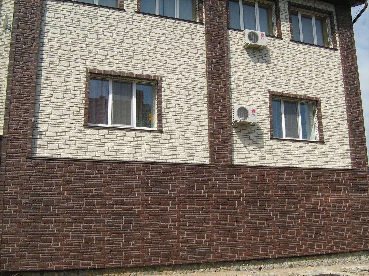 Сайдинг металлический под камень: технология облицовки цоколя дома пошагово
