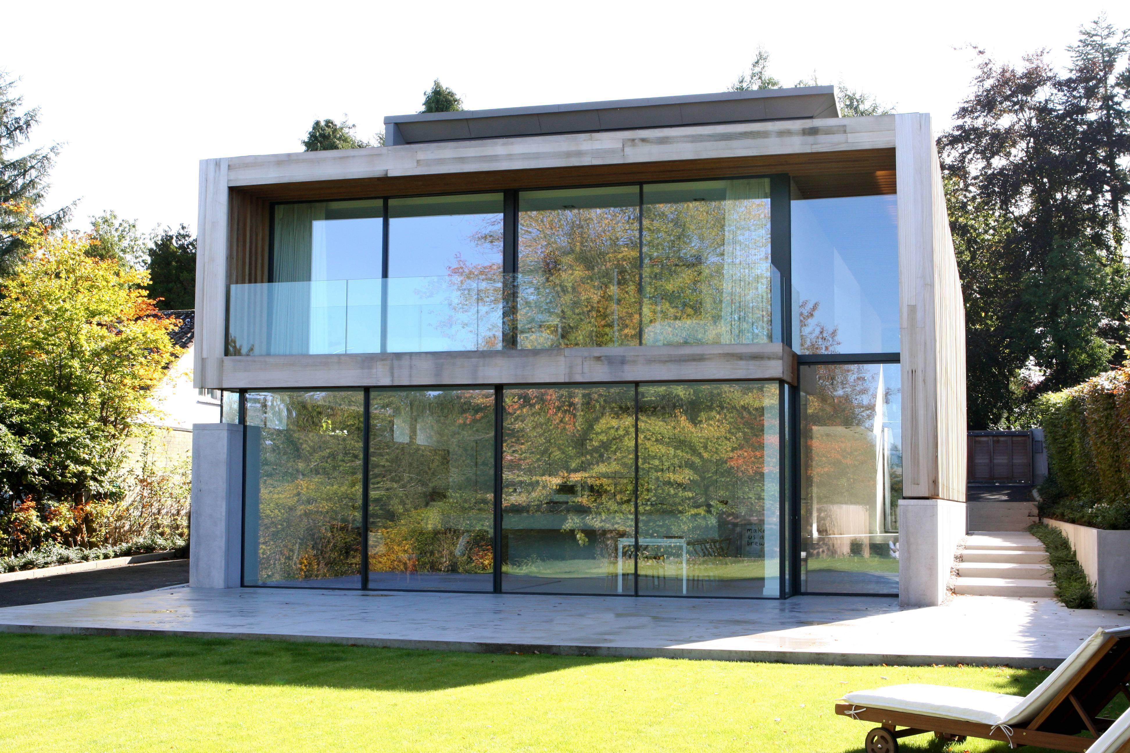 Дом с панорамными окнами — нестандартные проекты частных домов. 120 фото красивых частных домов с большими окнами