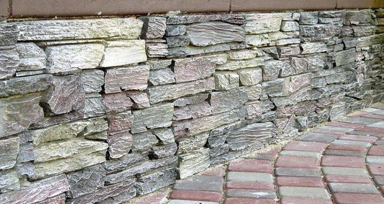 Отделка цоколя искусственным камнем и создание имитации ?
