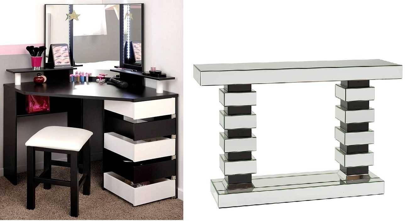 Гримерный столик с зеркалом и подсветкой: выбираем туалетный стол с тумбой, размеры моделей с лампочками 900х500х1480 и другие