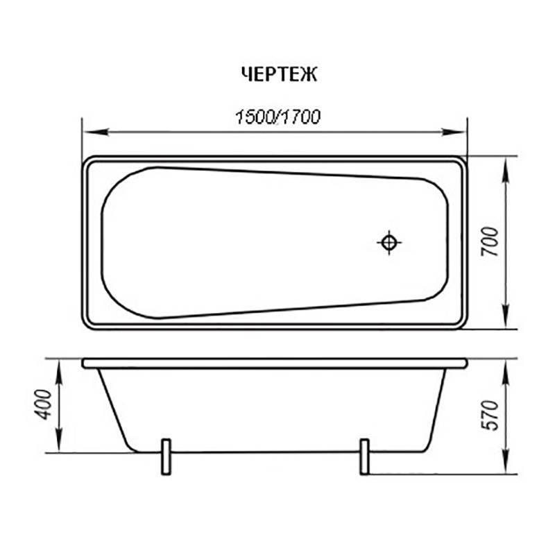 Размеры стандартных ванн
