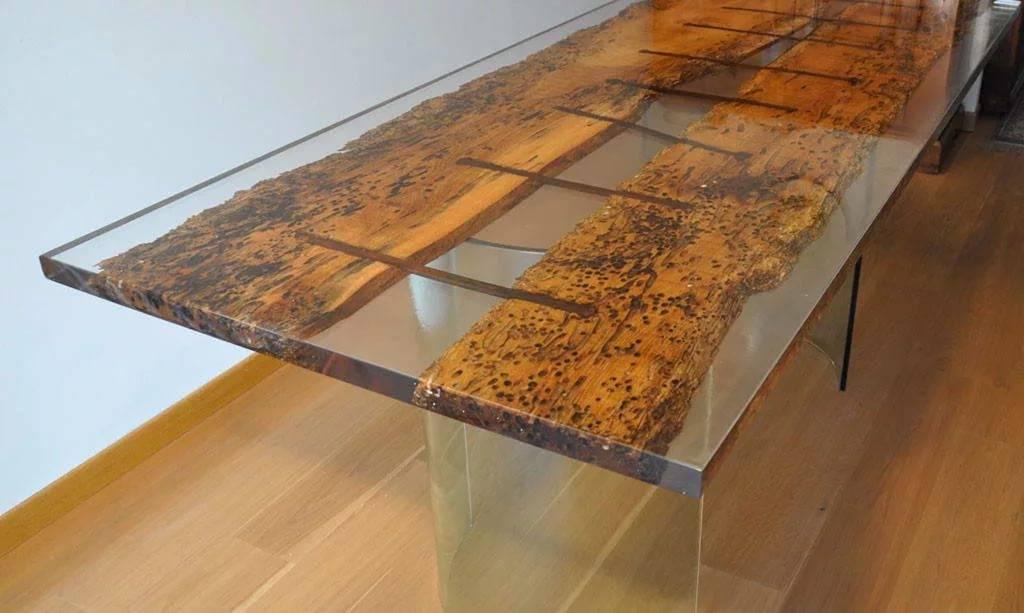 Мастер-класс по изготовлению стола из эпоксидной смолы своими руками