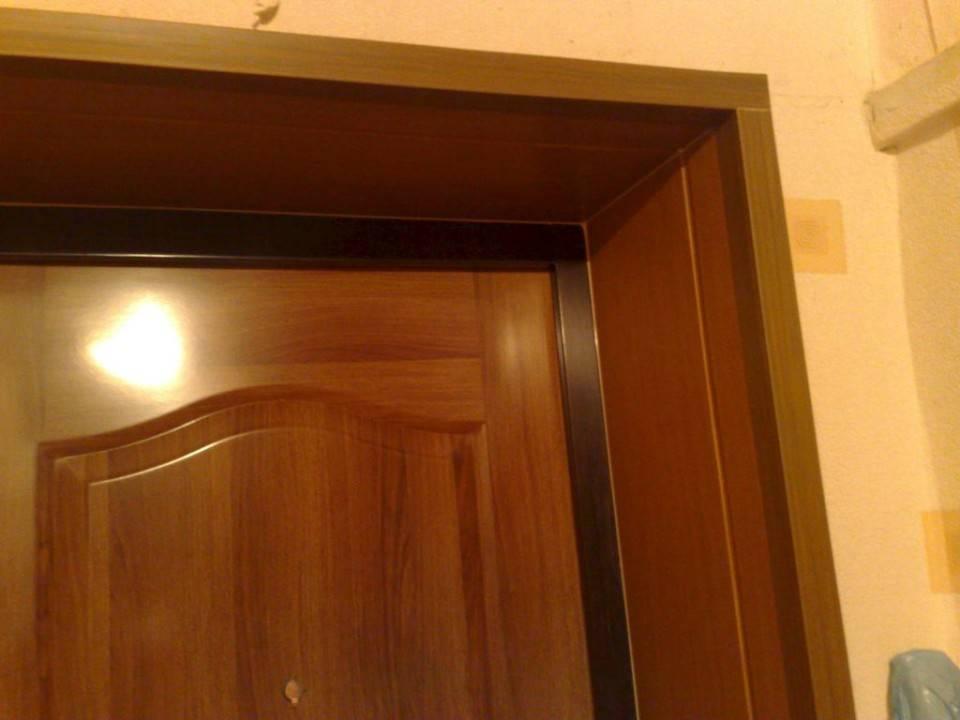 Обустройство дверных откосов на входную дверь
