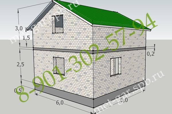 Дом из газобетона своими руками. расчет материала на дом