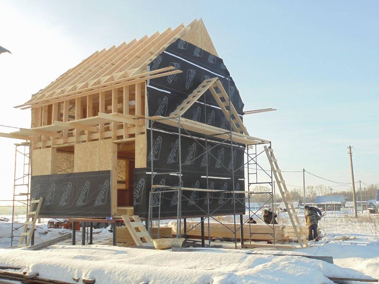 Каркасные дома — срок службы в россии, нижняя и верхняя обвязка, можно ли строить зимой?